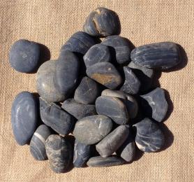 Black Polished Pebbles 30 - 50mm