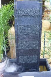 Curved Black with Black Pebble Panel FIA043