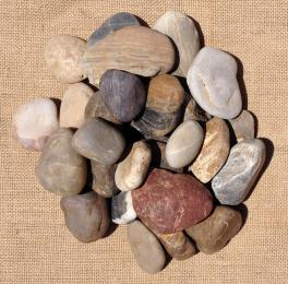 Mixed Polished Pebbles 40 -50mm