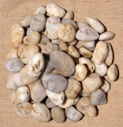 Off White Polished Pebbles 20 - 40mm