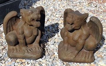 SGR017IH Standing Gargoyles Antique