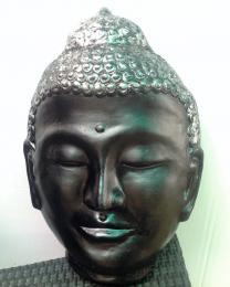 ST007IH Mask of Budha BlackSilver