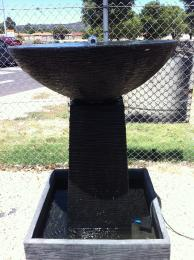 Large Bowl Water Feature Black FIA054