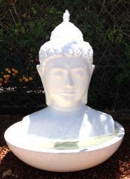 Buddha Head in Bowl White FIA008