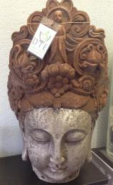 Buddha Head rust effect headpiece XL