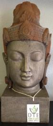 Large Buddha Head with rust effect headpiece