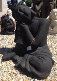 ST012-IH Thinking Lady Buddha Black