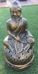 NS013C Sitting Buddha Candle Holder
