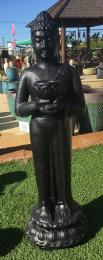 Standing Berdiri Buddha Black