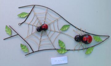 IR644A Redback with web and leaves