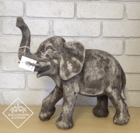 CF197RB Elephant Statue Raw Black small