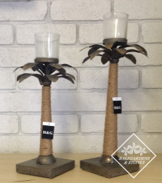 FF89-90 Palm Metal Candle Holders